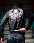 "Mask Hoodie ""Never Walk Alone"""